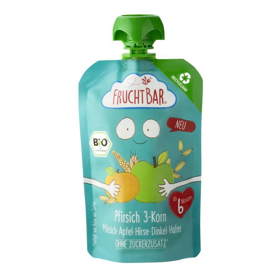 FRUCHTBAR® Bio-Püree Pfirsich 3-Korn 100g ab dem 6. Monat