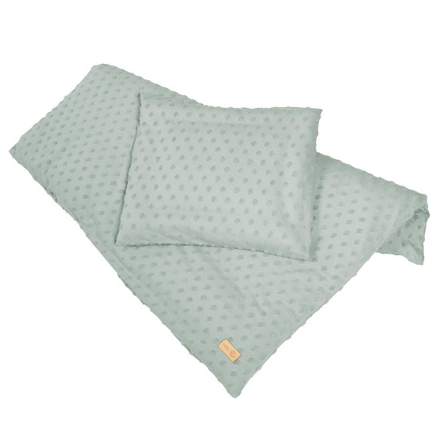 roba Vugge sengetøj 2-delt 80 x 80 cm Lil Planet grøn