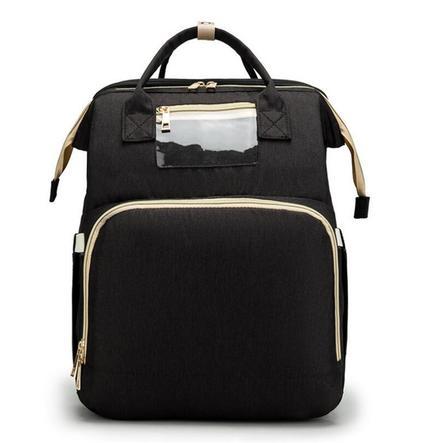 Stella Bag Wickelrucksack Basic Schwarz mit Fronttasche