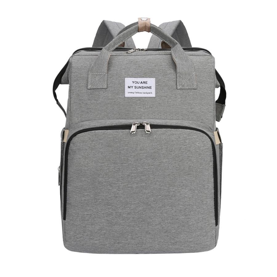 Stella Bag Wickelrucksack Basic Grau mit Sunshine Logo