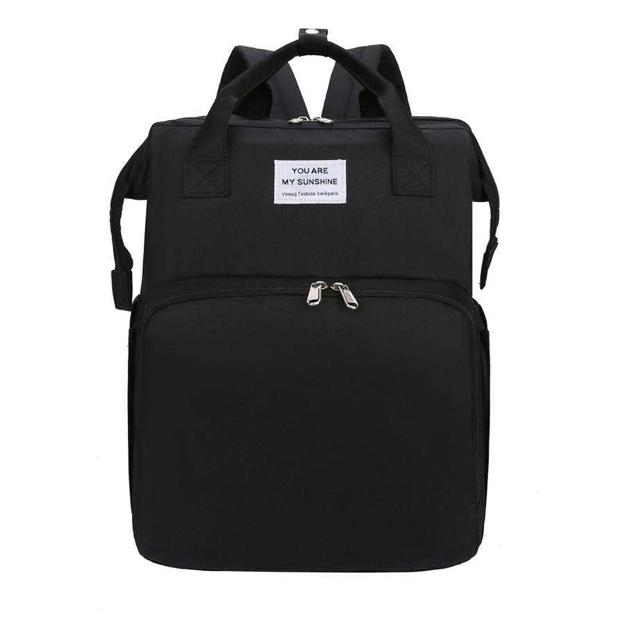 Stella Bag Veranderingsrugzak Basic Zwart met Sunshine logo