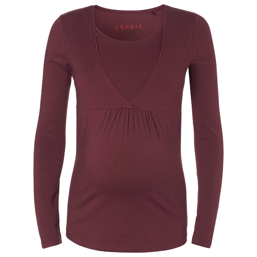 ESPRIT Umstands Still-Shirt tawny red