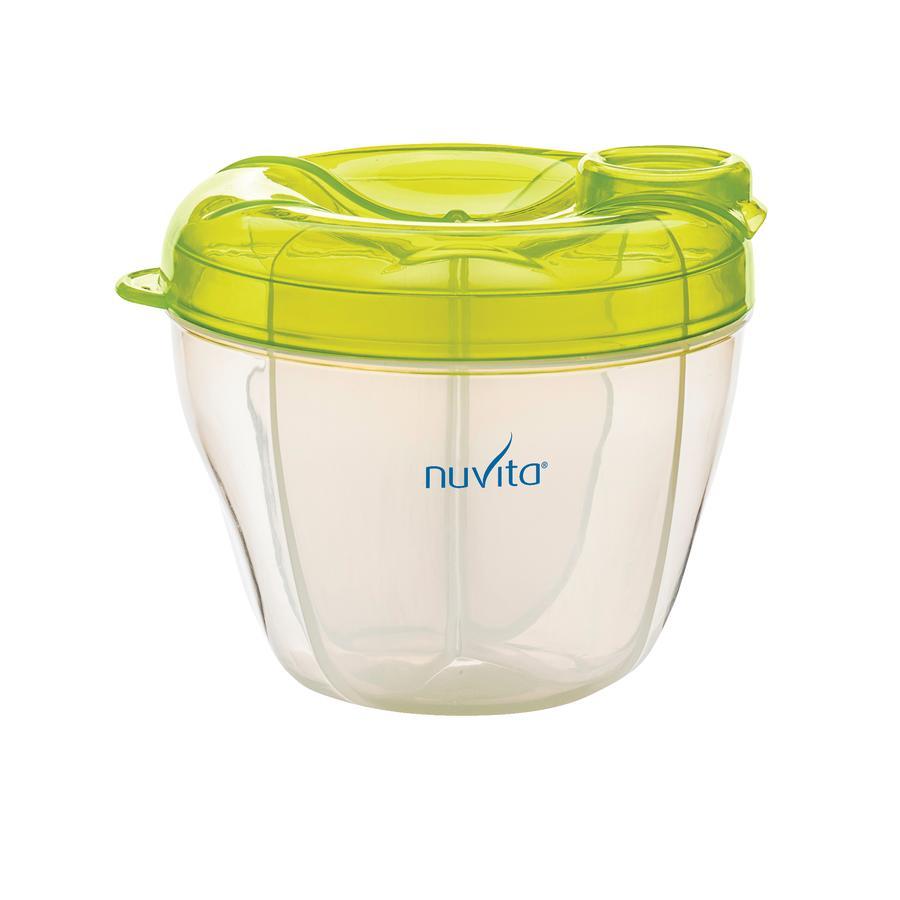 nuvita Milchpulver-Behälter mit 4 Abteilen in grün