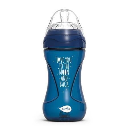 nuvita Babyflasche Anti - Kolik Mimic Cool! 250ml in dunkelblau