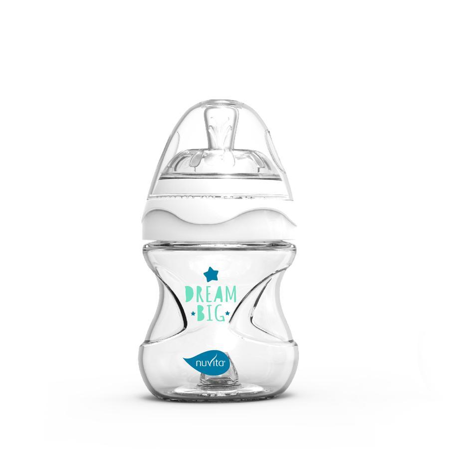 nuvita Babyflasche Anti - Kolik Glas Collection mit innovativem Sauger 140ml in weiß