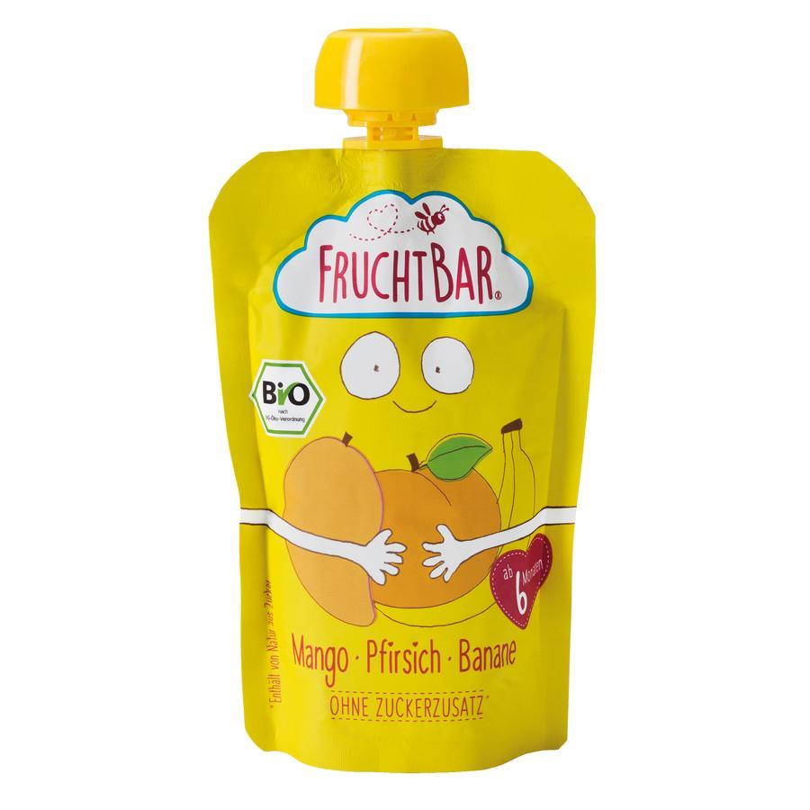 FRUCHTBAR® Bio-Pürees Mango-Pfirsich-Banane 100 g ab dem 6. Monat