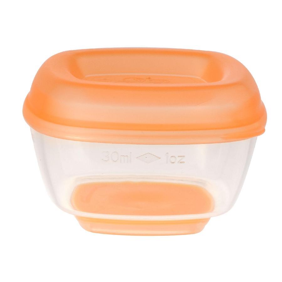 vital baby Freezer ciotole mini dal 4 ° mese 30 ml, 8 pezzi in orange