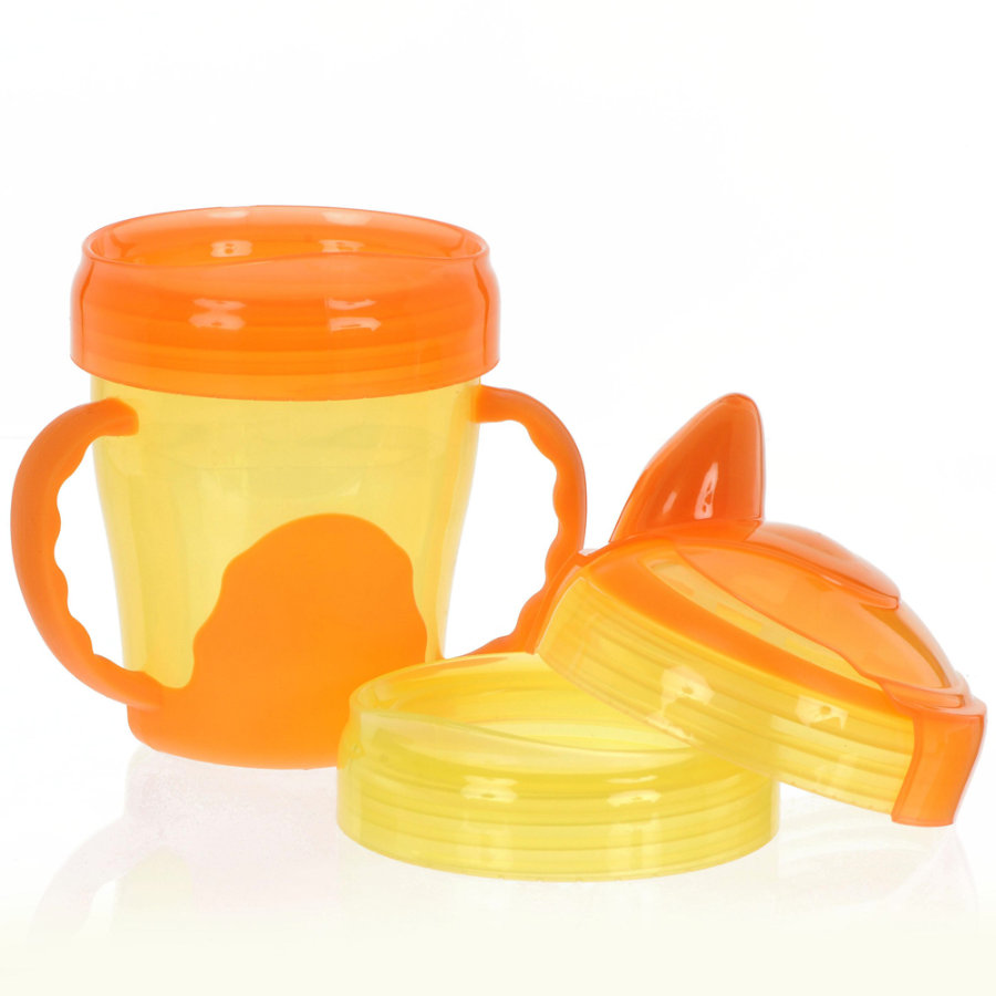 vital baby Trinklernbecher, Mein erster 3-Stufen Trinklernbecher, ab dem 12. Monat in orange