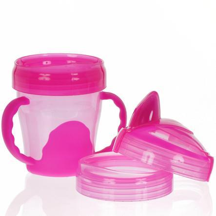 vital baby Trinklernbecher, Mein erster 3-Stufen Trinklernbecher, ab dem 12. Monat in pink