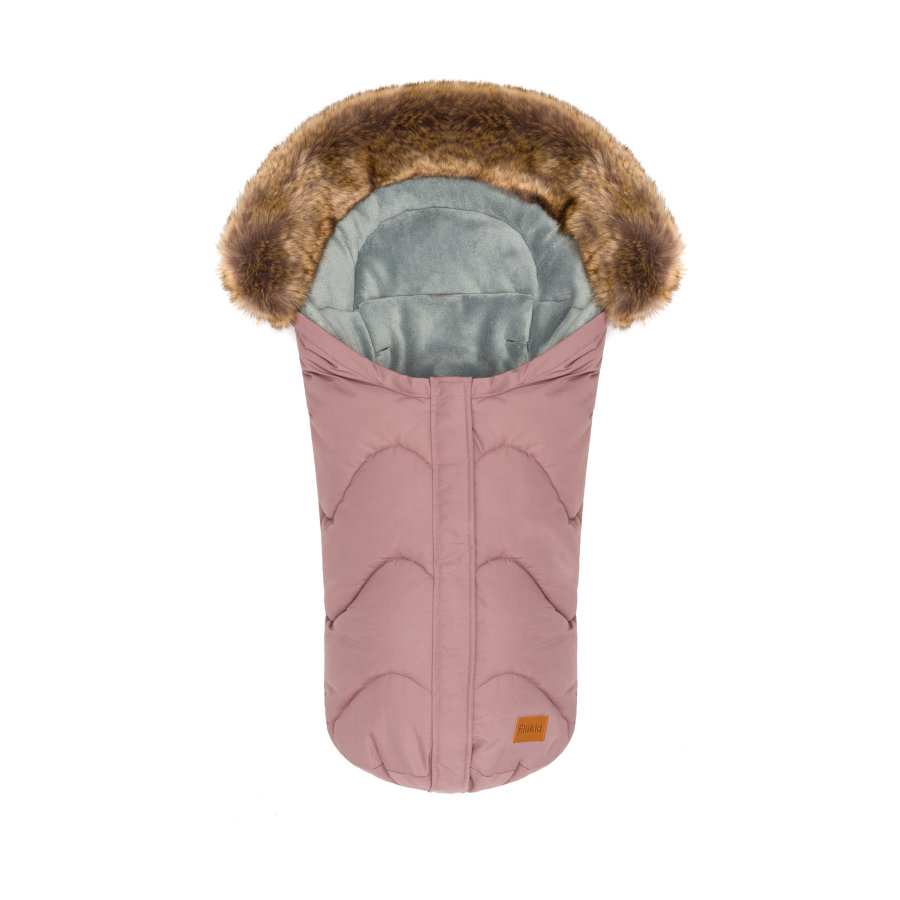 fillikid Winterfußsack Lhotse für Babyschale Altrosa