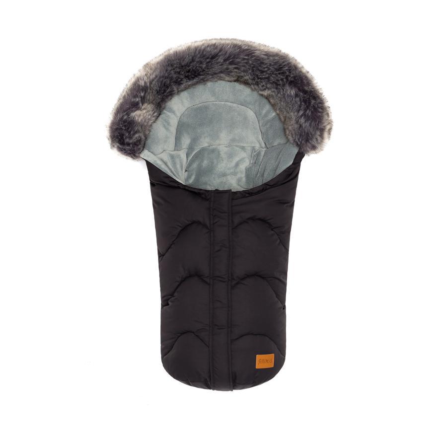 fillikid Winterfußsack Lhotse für Babyschale Schwarz