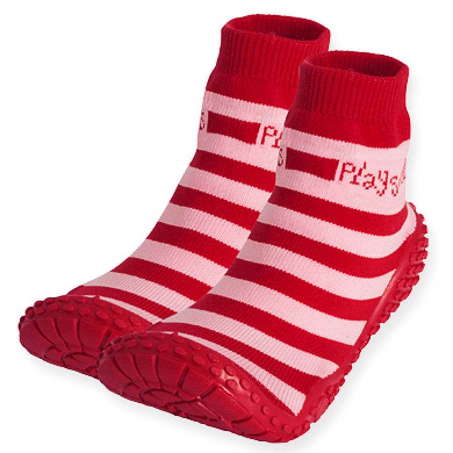 Playshoes Calcetines Aqua rayas rojo