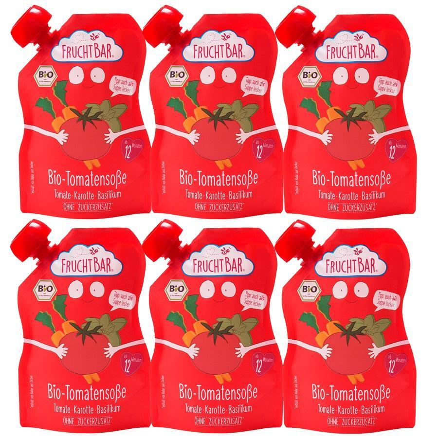FRUCHTBAR® Fruchtige Bio-Tomatensoße Tomate-Karotte-Basilikum ab dem 12. Monat 6 x 190 g