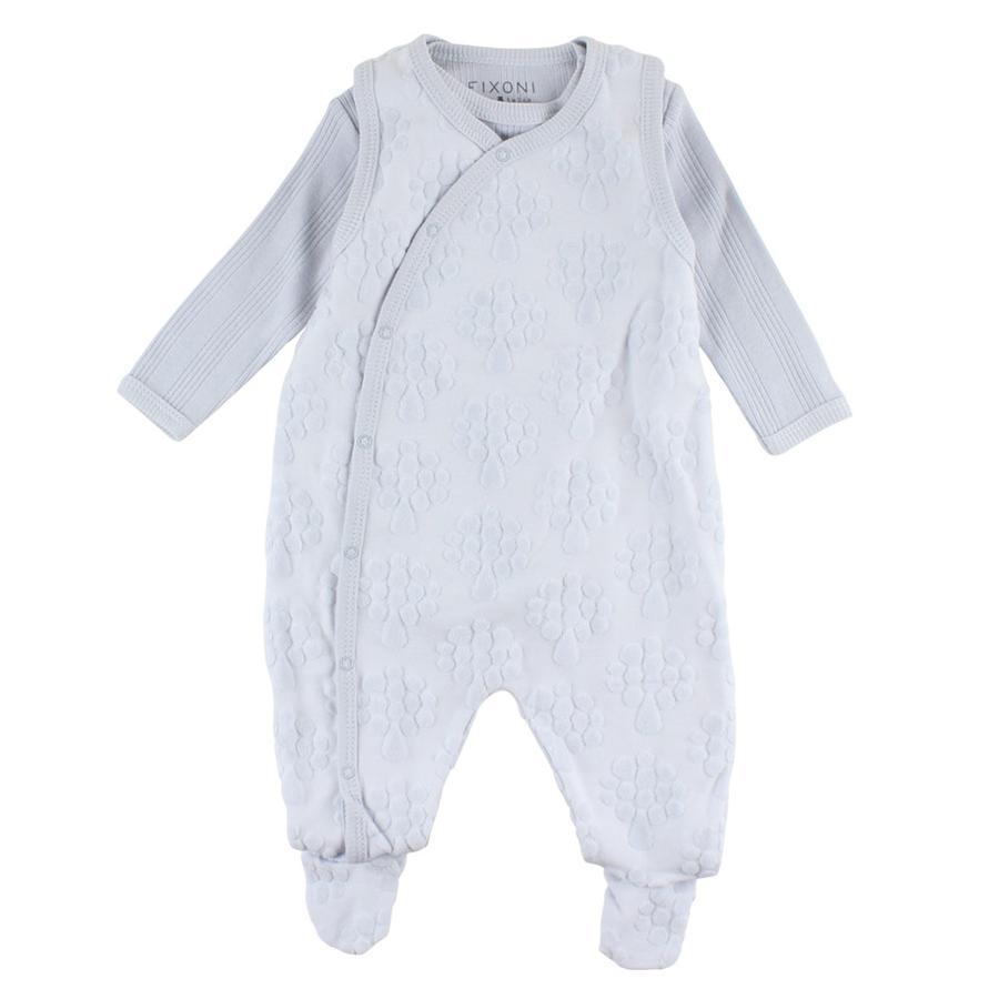 FIXONI Baby Strampler Set soft blue