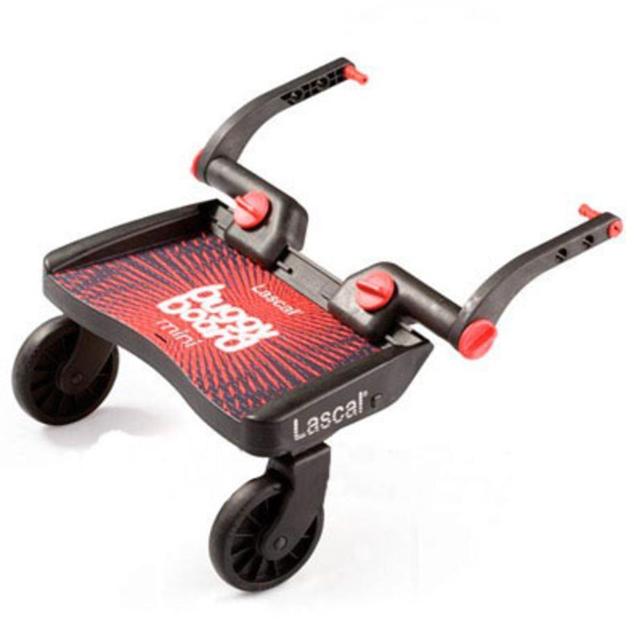 LASCAL Planche à roulettes pour poussette Buggy Board Mini, basique, rouge