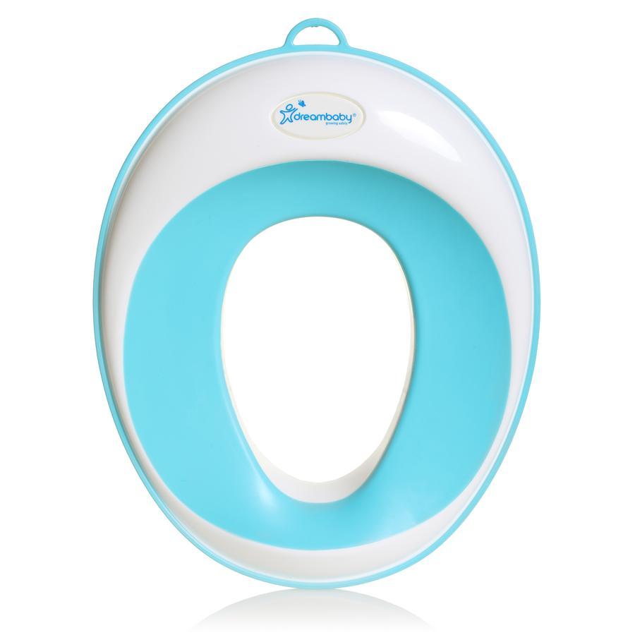 Dreambaby® Toilettensitz mit schlanken Konturren  in aqua/weiß