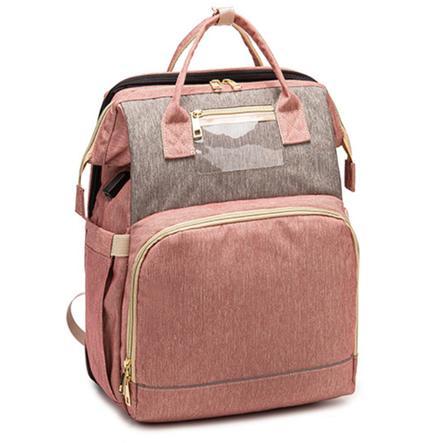 Stella Bag Szaro Róowy Plecak do Przewijania Premium