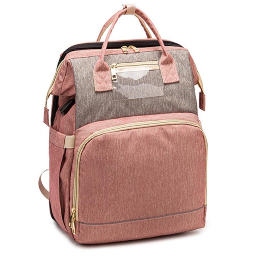 Stella Bag Mochila cambiadora premium rosa gris