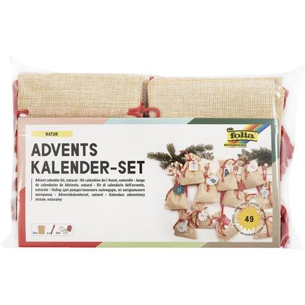 folia Ensemble de calendriers de l'Avent, sacs aspect jute, 49 pièces.