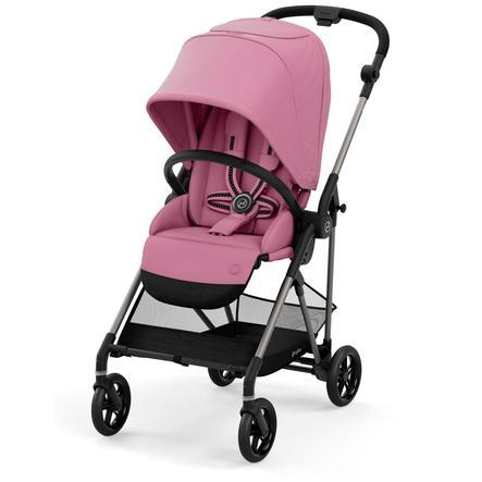 cybex GOLD Kinderwagen Melio Taupe Black Magnolia Pink