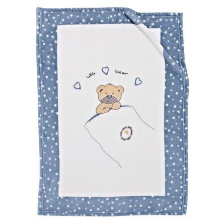 Alvi® Couverture à microfibres - Little bear bleue 75x100 cm