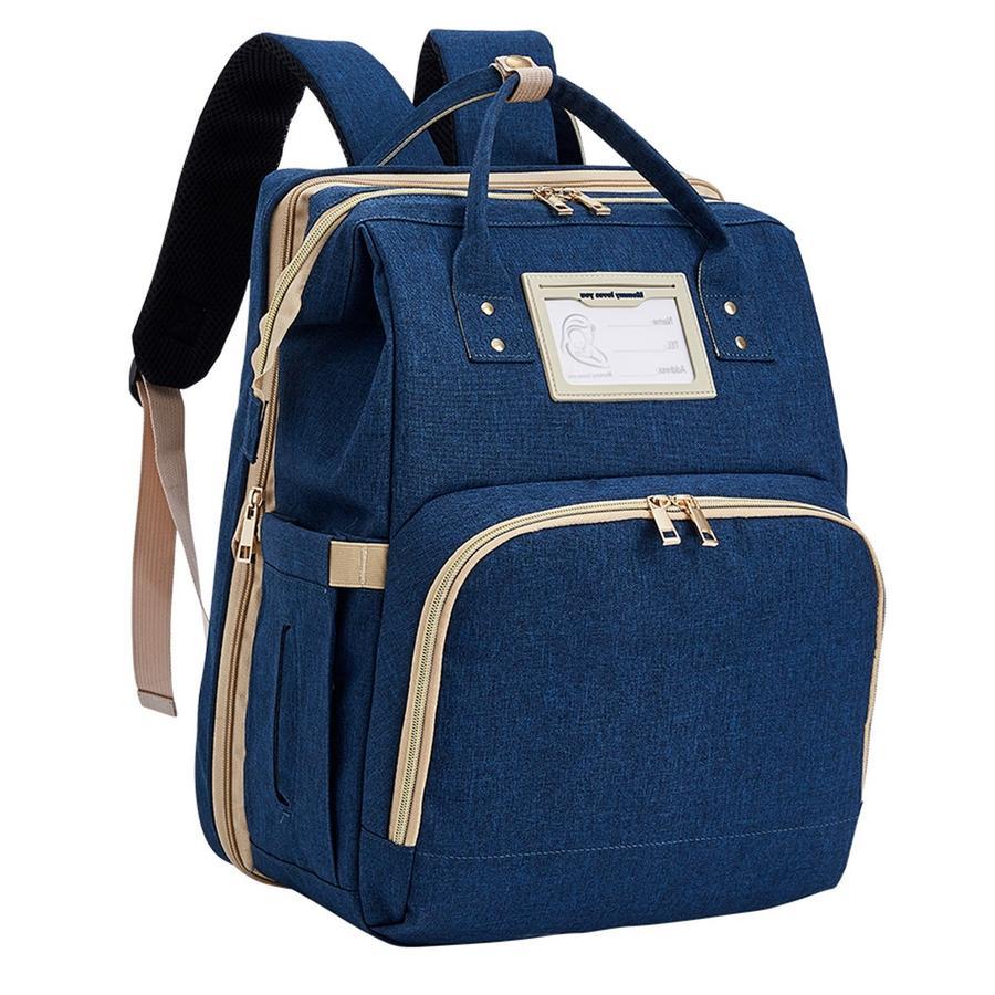 Stella Bag Sac à langer dos transformable Premium bleu