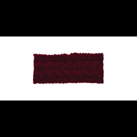 Sterntaler Bandeau tricoté rouge foncé