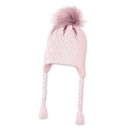 Sterntaler Pletená čepice růžová
