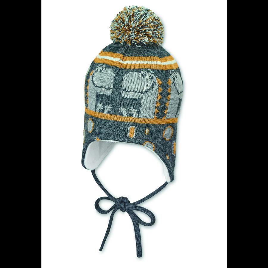 Sterntaler pletená čepice antracitová