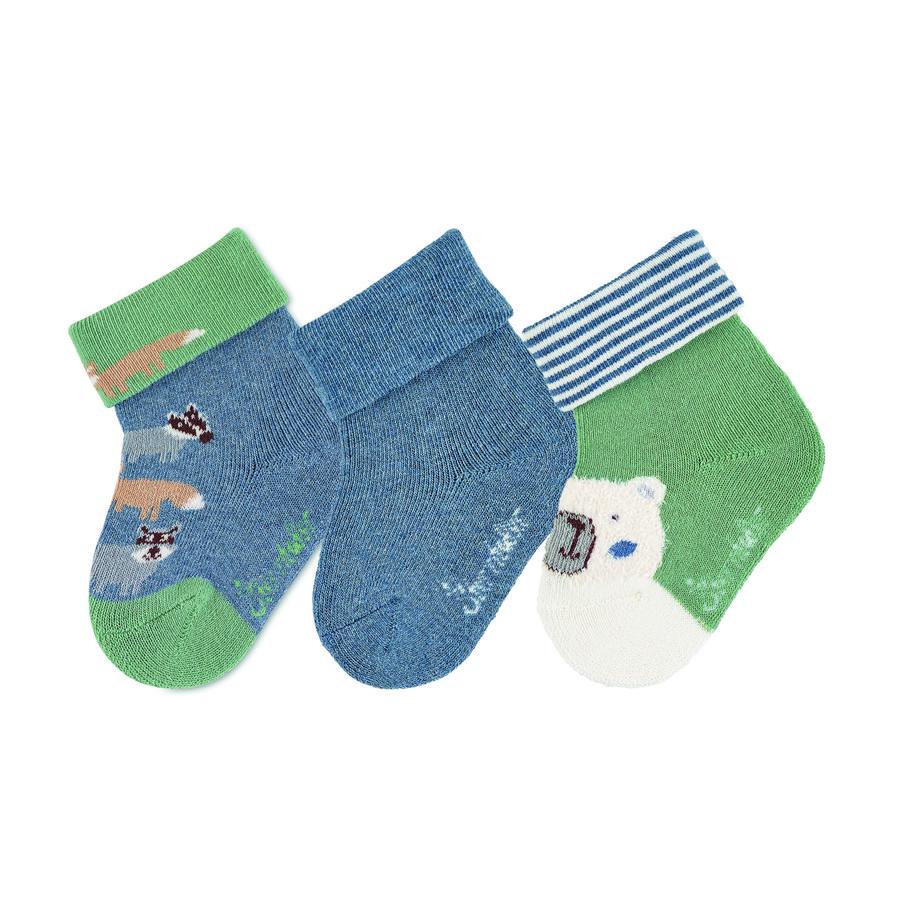 Sterntaler Baby-Söckchen 3er-Pack Waldtiere tintenblau