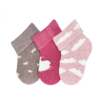 Sterntaler first socks 3-pack sheep magenta