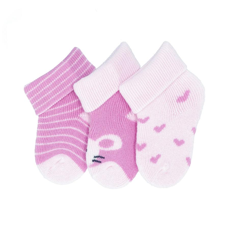 Sterntaler Erstlingssöckchen 3er-pack Maus rosa
