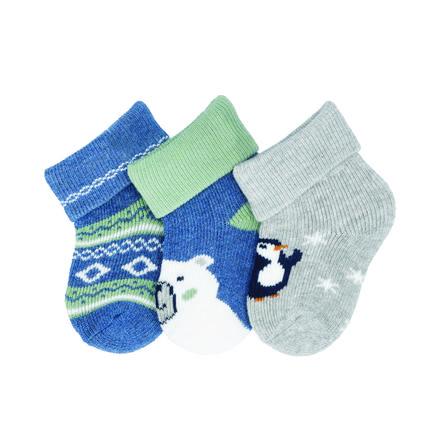 Sterntaler Erstlingssöckchen 3er-pack Bär tintenblau
