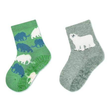Sterntaler Fliesenflitzer Air dobbeltpakke mammut / isbjørn grønn
