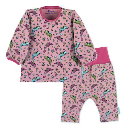 Sterntaler Set camicia a maniche lunghe e pantaloni rosa