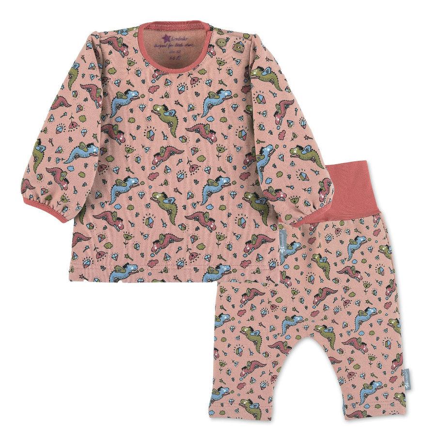 Sterntaler Set košile s dlouhým rukávem a kalhoty růžové