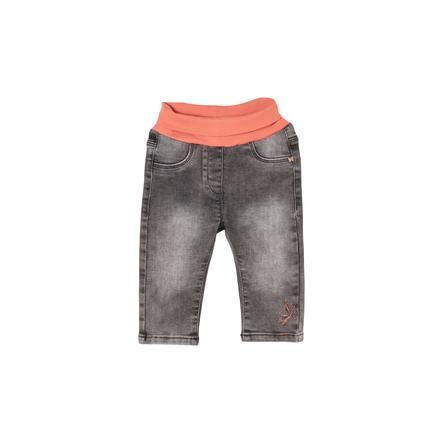 s. Olive r Jeans gris en denim étiré
