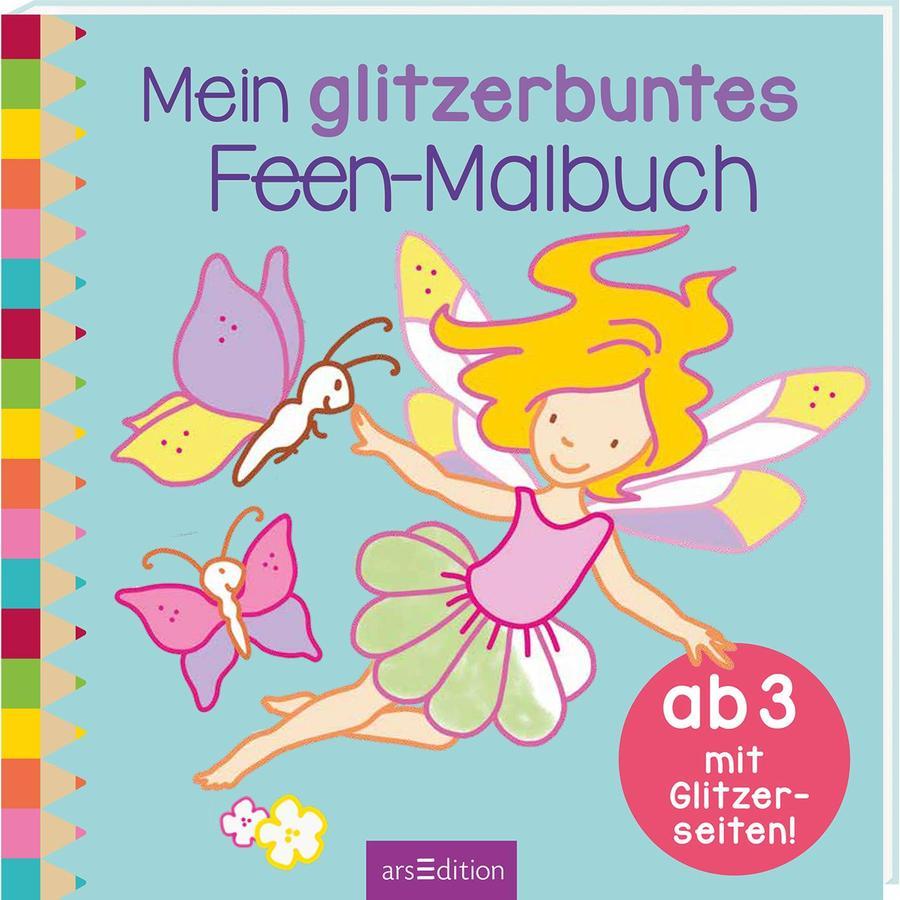 arsEdition Mein glitzerbuntes Feen- Malbuch