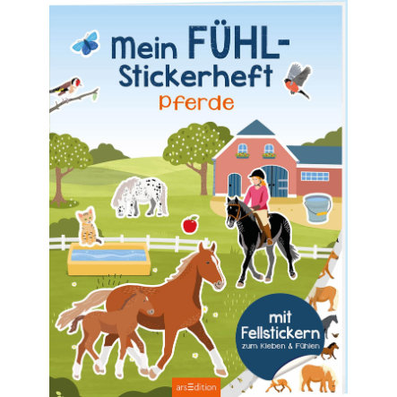 arsEdition Mein Fühl-Stickerheft: Pferde