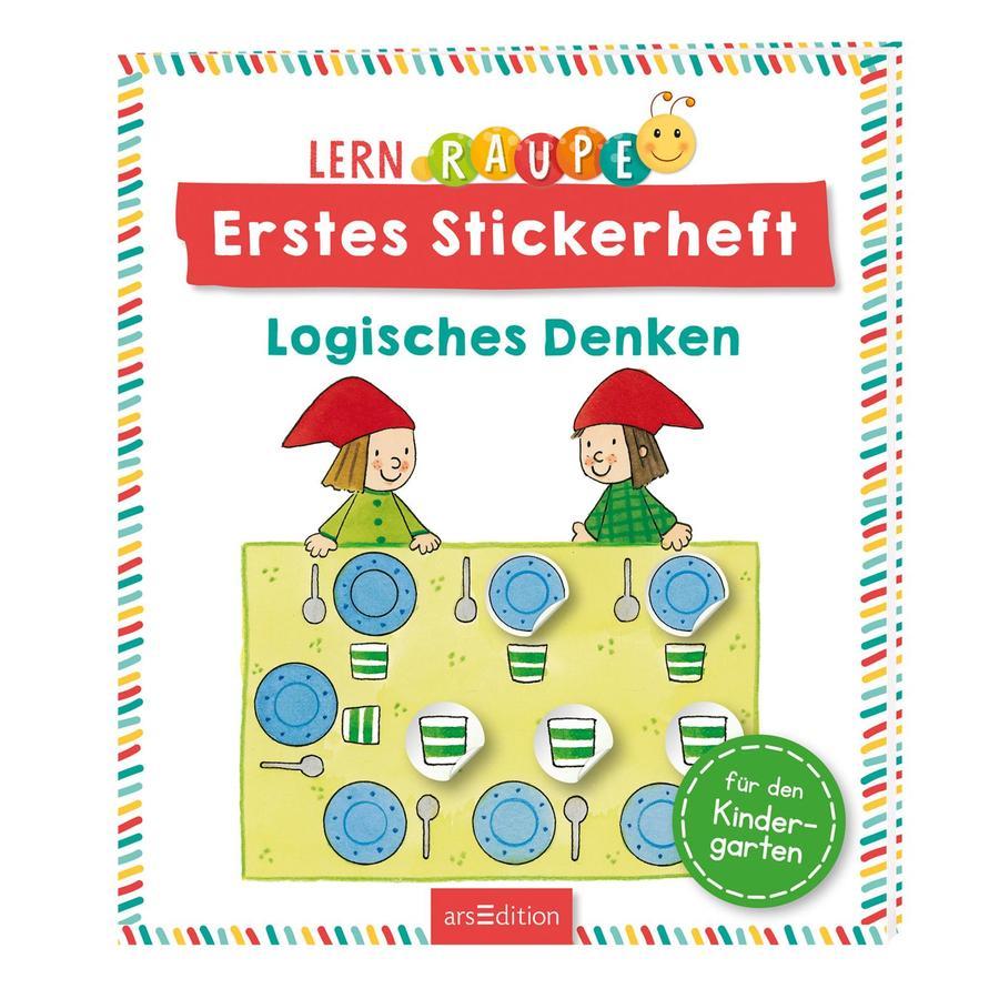 arsEdition Lernraupe Erstes Stickerheft - Logisches Denken
