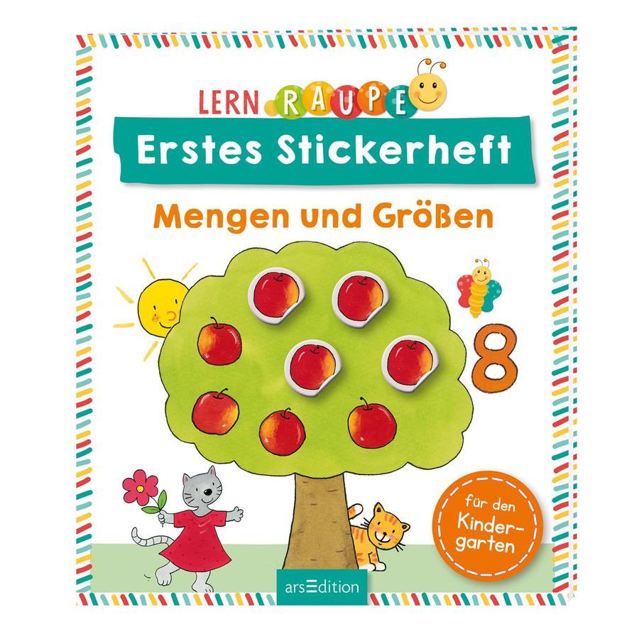 arsEdition Lernraupe Erstes Stickerheft - Mengen und Größen
