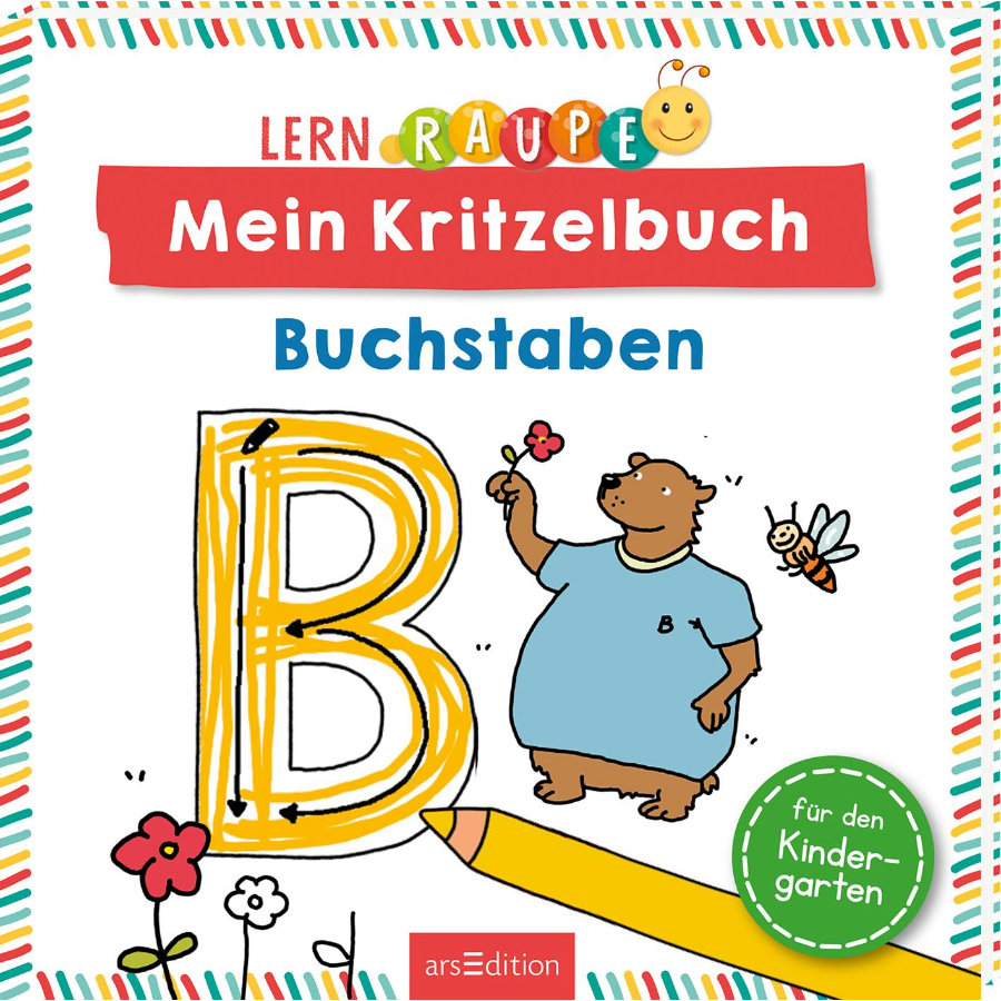 arsEdition Lernraupe Mein Kritzelbuch Buchstaben