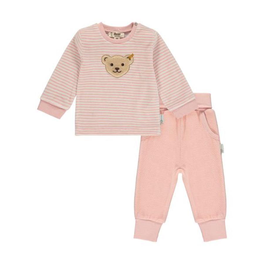 Steiff Baby Set 2-tlg. silver pink