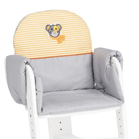 HERLAG Polstrování do židličky Tipp Topp IV šedo/oranžovo-bílé s proužky