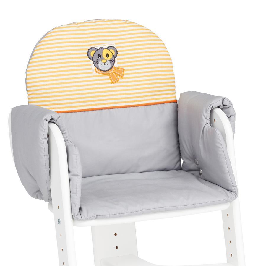 Herlag Sitzpolster für Tipp Topp IV grau/orange-weiß gestreift