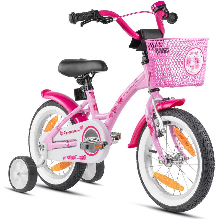 PROMETHEUS BICYCLES® HAWK Kinderfahrrad 14'' , roze-wit