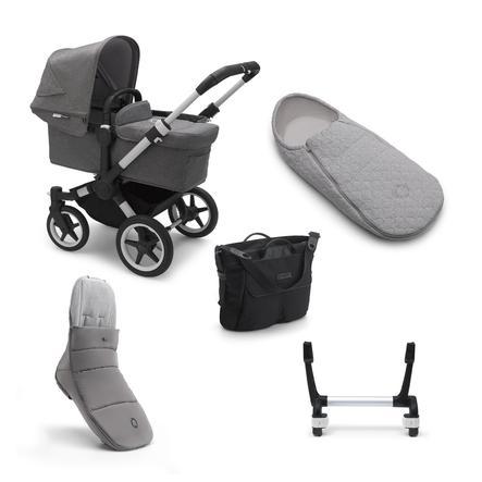 bugaboo Set 5 en 1 para carro bebé Combi Donkey 3 Mono Alu/Grey Melange