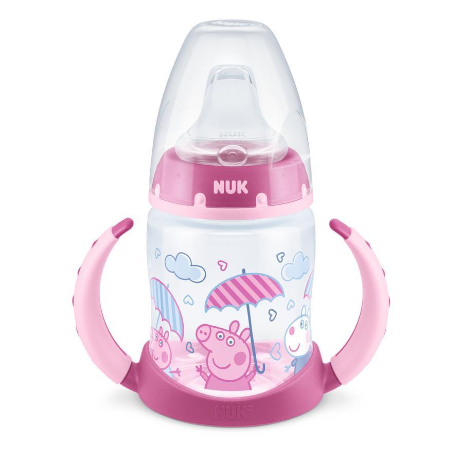 NUK Biberon Peppa Pig First Choice avec température Control , 150ml, 6-18 mois en rose