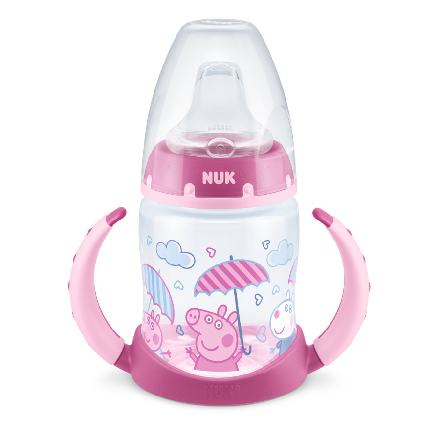 NUK Trinklernflasche Peppa Pig First Choice mit Temperature Control, 150ml, 6-18 Monate in rosa