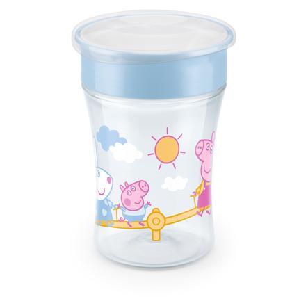NUK Learning cup Magic Cup Peppa Gris, med 360 ° drikkekant fra 8 måneders alder